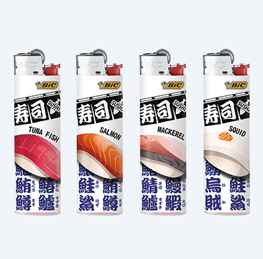 BIC® MIDI LIGHTERS SUSHI SERIES