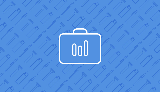icon of a suitcase on a blue background