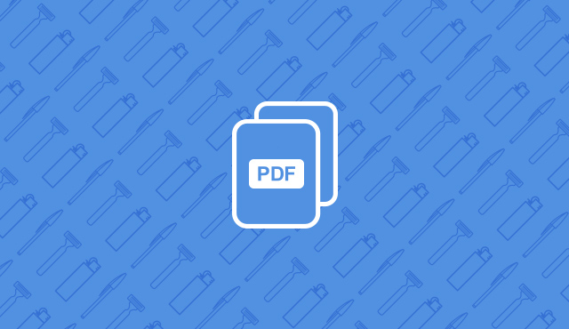 pdf icon on a blue background