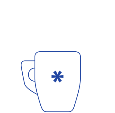 blue mug outline