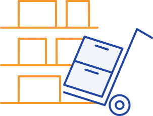 box in warehouse icon