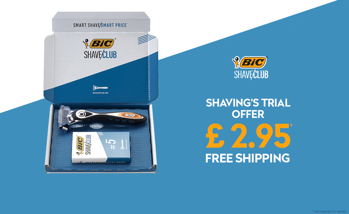 bic shave club offer at 2.95£