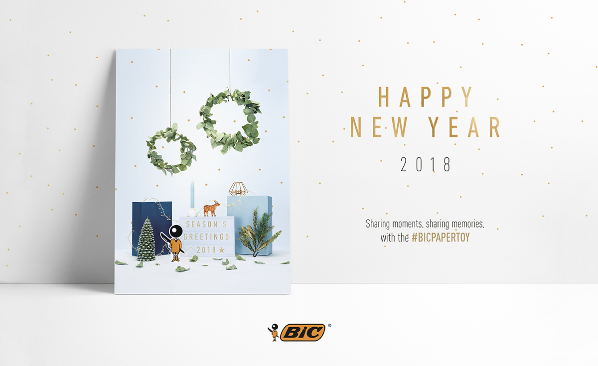 bic 2018 greeting card