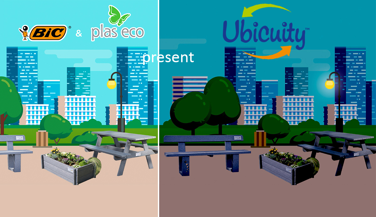 outdoor furniture and bic and ubicuity logos