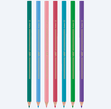 CRAYONS DE COULEUR TRIANGULAIRES BIC COLOR UP