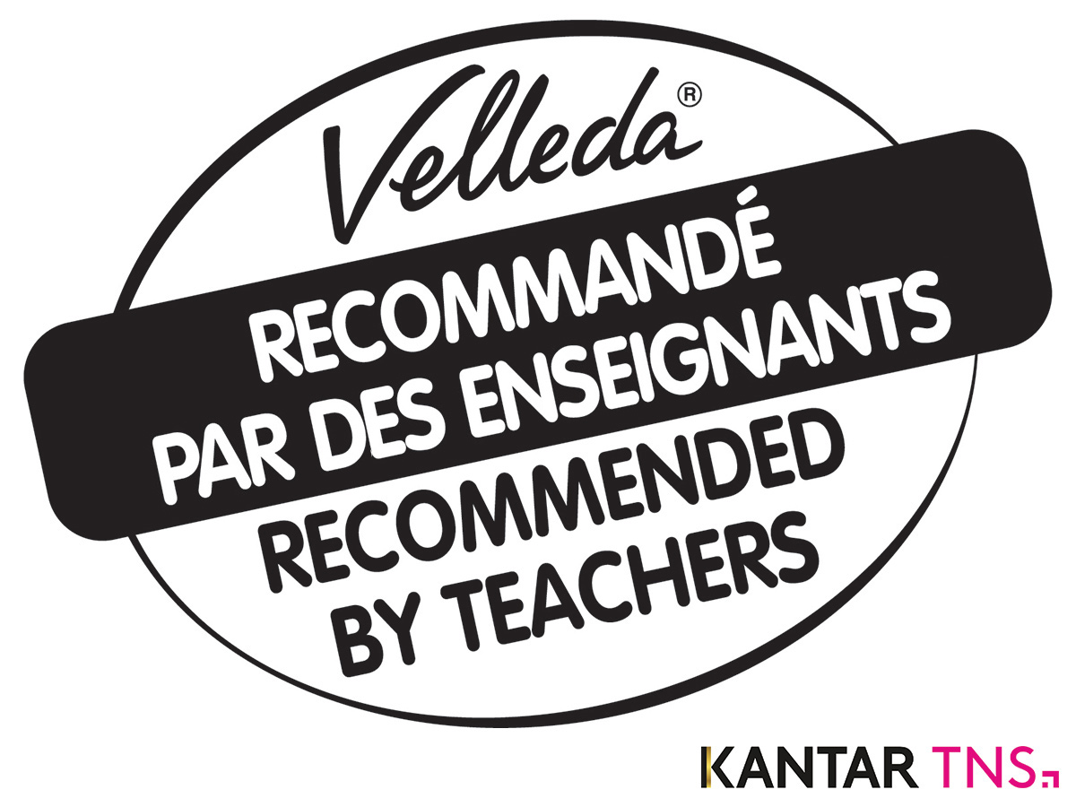 logo velleda recommended by teachers  kantar
