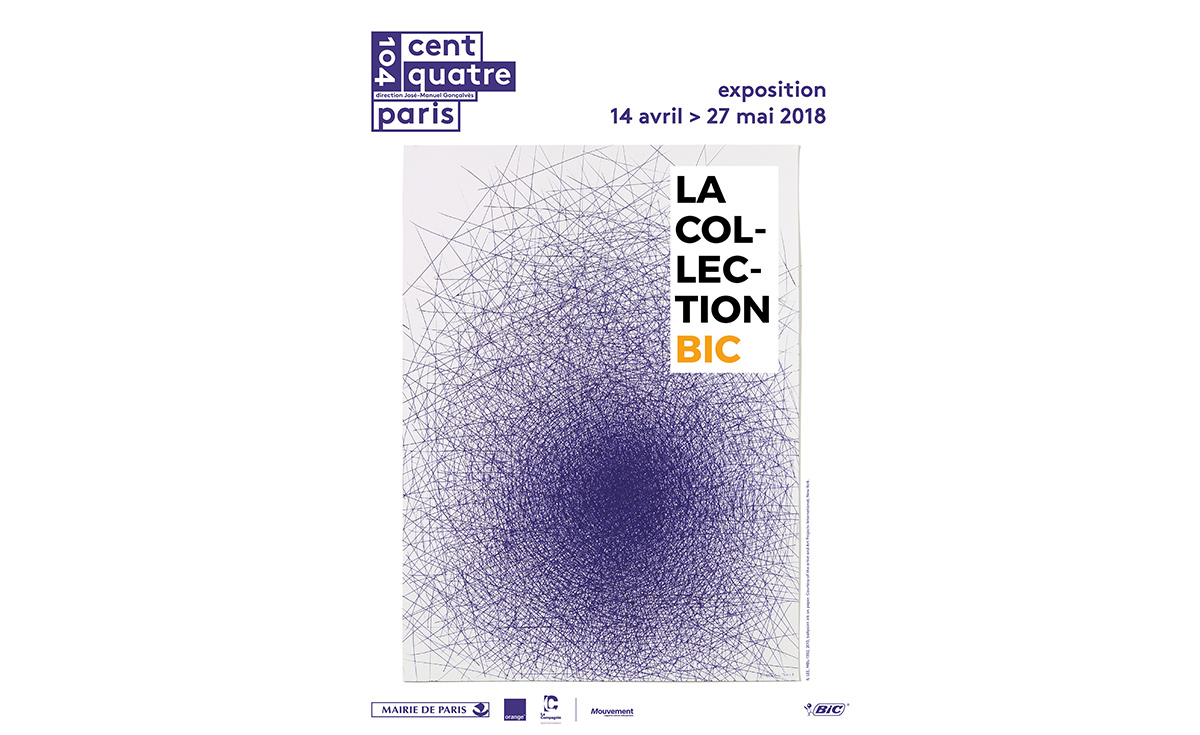 poster of the bic exhibition with a drawing