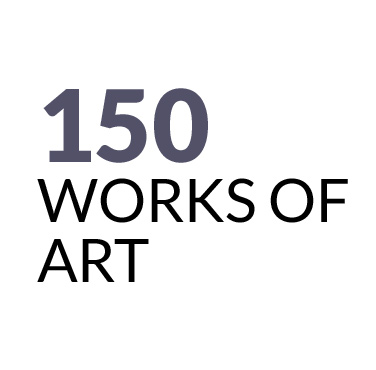 150 works of art