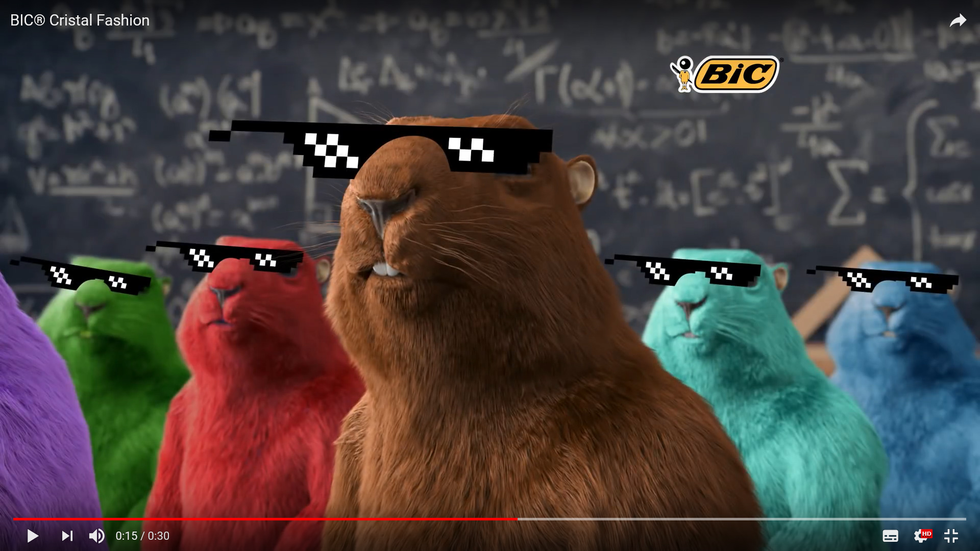 colorful woodchuck wearing 3D glasses