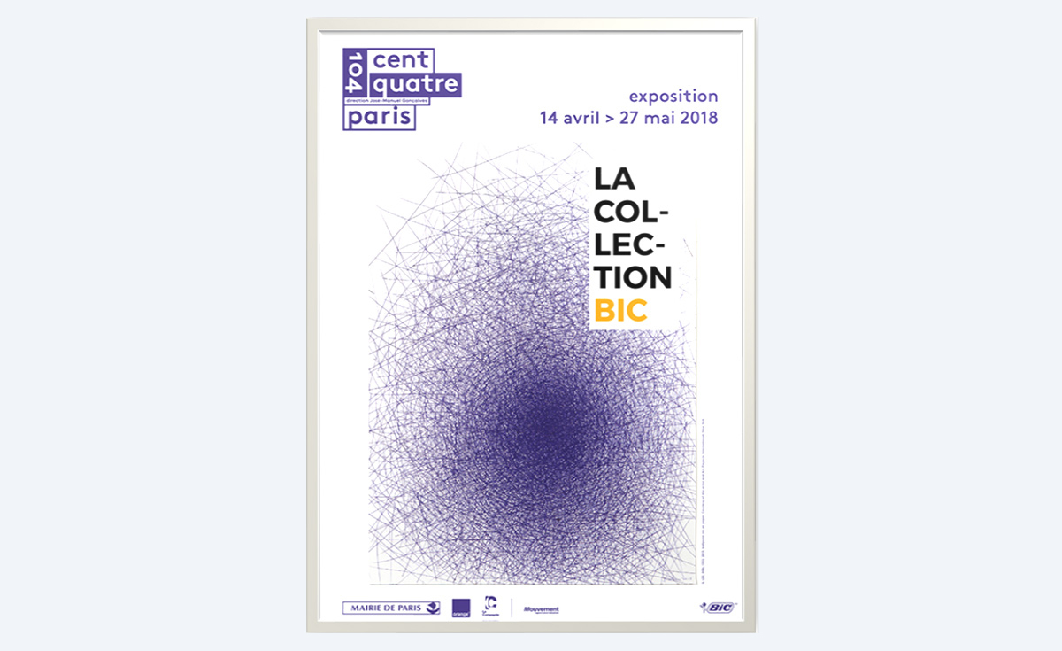 poster of the exhibition of the BIC Collection