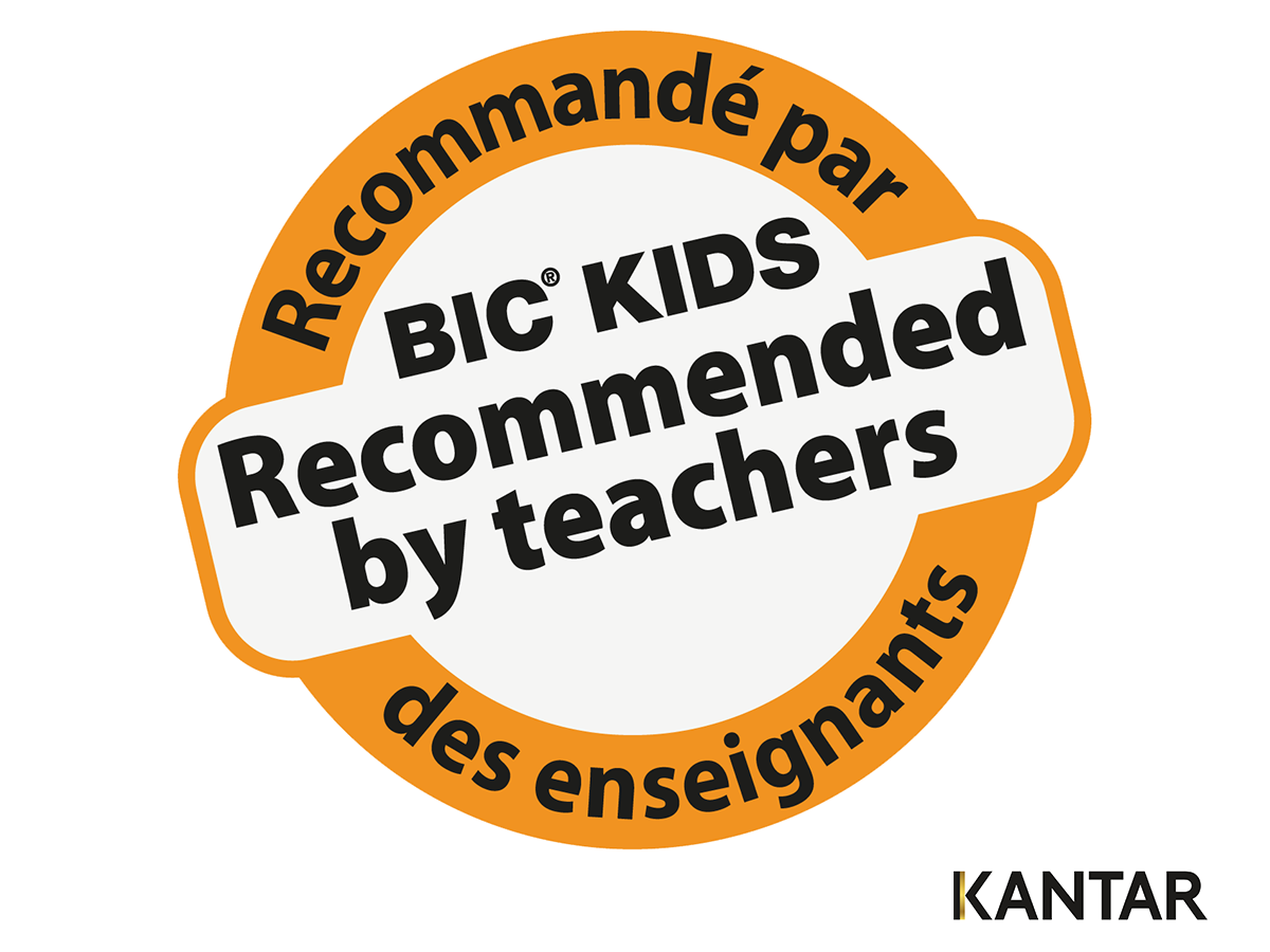 logo bic kids recommended by teachers Kantar Media