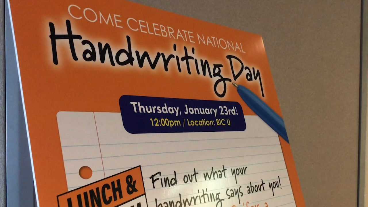 Handwriting Day sign