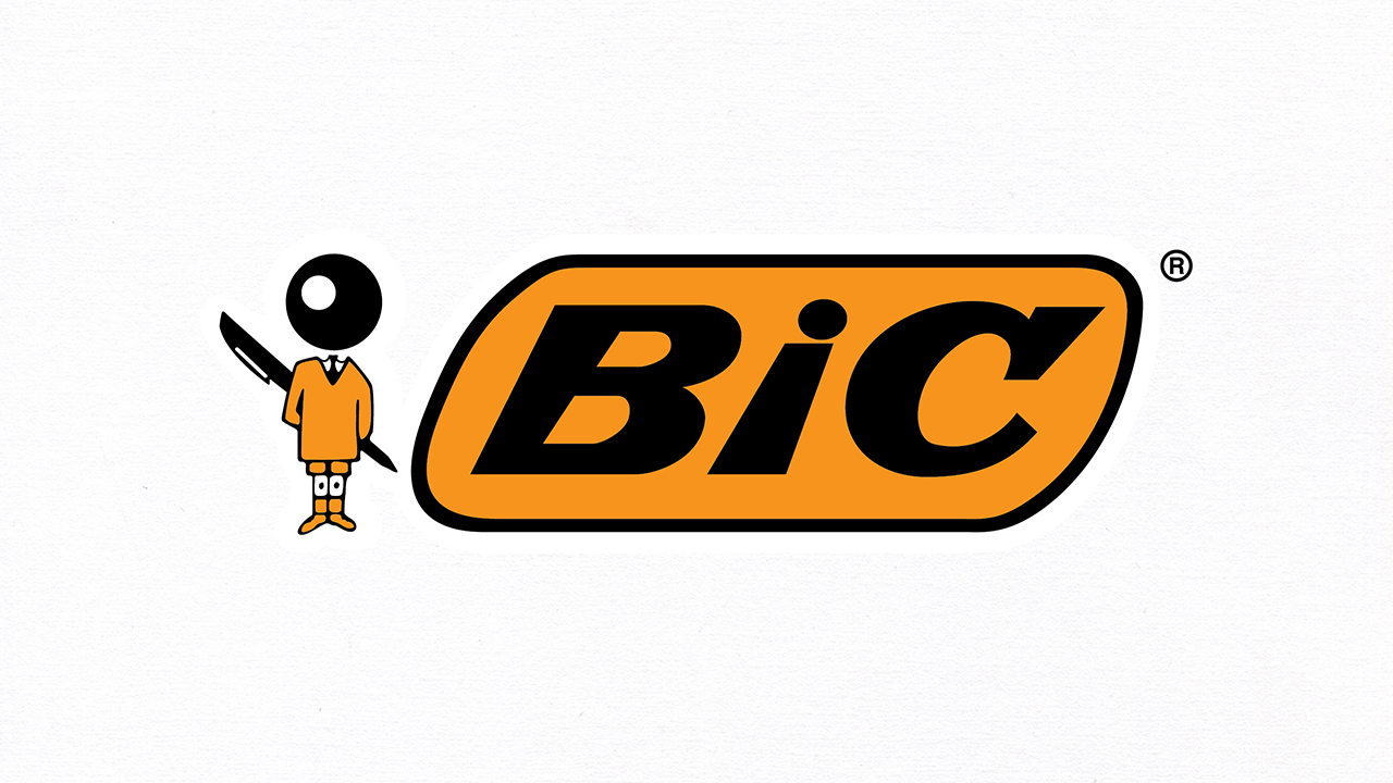 BIC logo with textured background