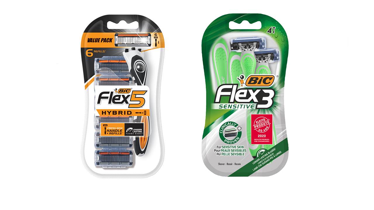 BIC Flex 5 Hybrid and Flex 3 Sensitive packaging