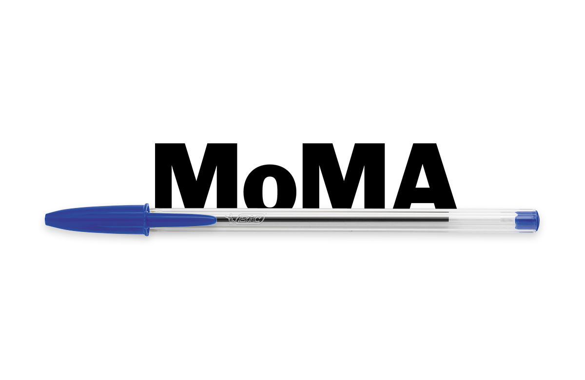 BIC Cristal pen with MoMA logo