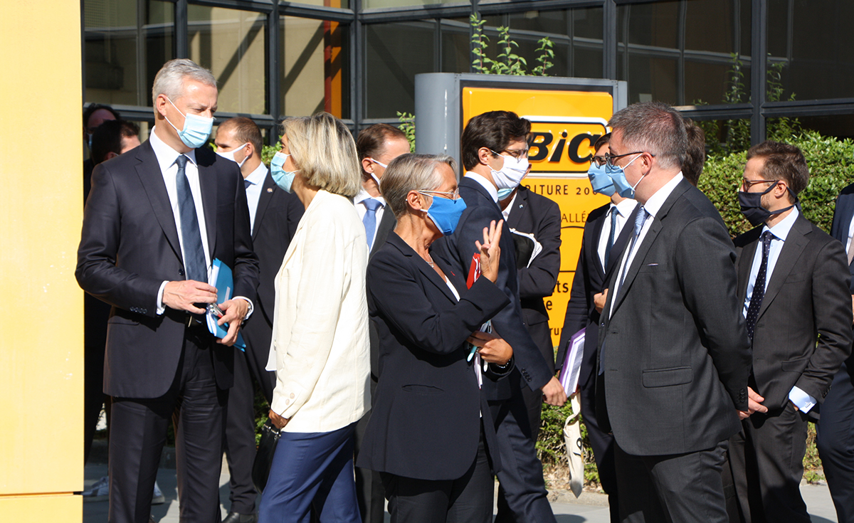 French Prime Minister and several members of the Government visit BIC