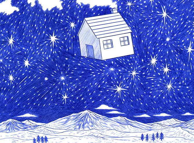 Made with Bic: THE HOUSE IN THE SKY