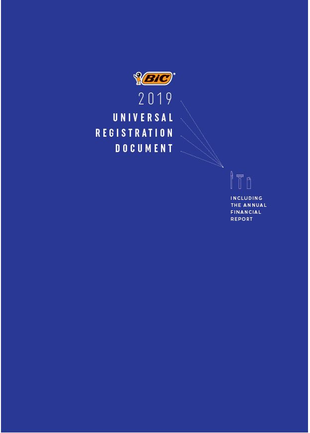 cover of the 2019 universal registration document