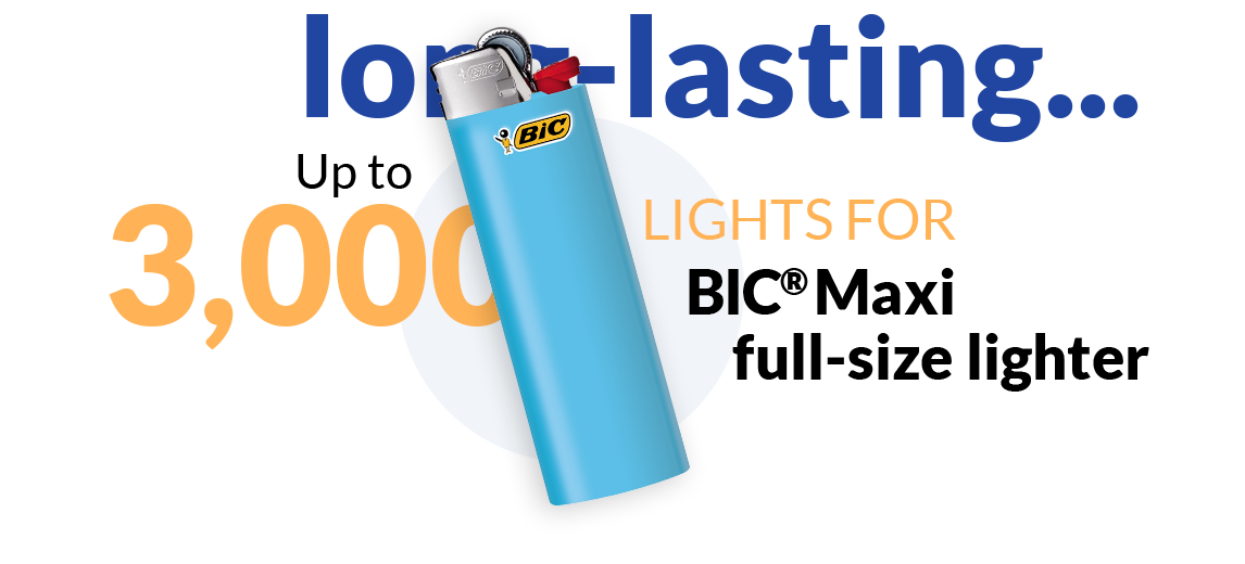 blue lighter and text up to 3,000 lights
